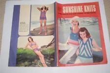 Knitting/ Crochet Patterns - Womens Weekly Sunshine Knits 1972 - Bikini etc