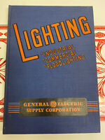Vintage 1941 General Electric Supply Corporation Lighting Industrial Commercial
