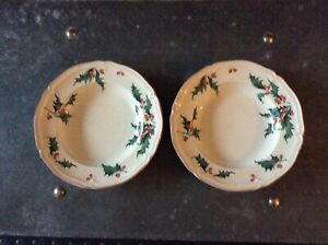 Villeroy & Bosch Holly Wide Rimmed Soup Bowls x 2