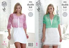 Femme simple dentelle court cardigans tricot motif king cole femmes vogue dk 4456