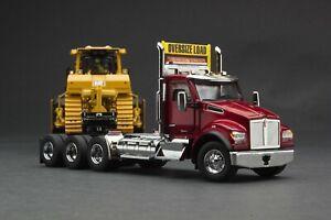 Caterpillar 1:50   GIFT SET SPECIAL   Kenworth T880 SFFA Truck Trailer & CAT D9T