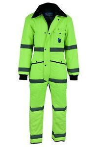 Hi-Vis Tecbro Chill Bloc Insulated Coverall Extreme Cold Weather Freezer Suit