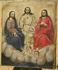 Holy Trinity Mexican Retablo 19th c.