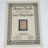 Hester's Needle FANCY WING Sampler Counted Cross Stitch Chart Sampler No 12