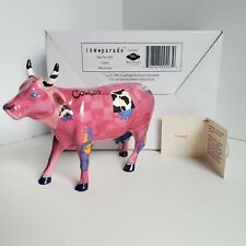 Cow Parade COWBELL 9203 NIB 2001 Pink and Purple Cows Bell Figurine
