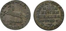 1789 BRUNSWICK-WOLFENBÜTTEL German States Silver 1/12 Thaler- Horse