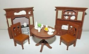 New Collection's Etc. Set 5 pc Dining Room Furniture Resin Dollhouse Items