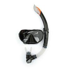 Osprey avanzate Immersione Serie Adulti Silicone Senza Cornice Maschera E Boccaglio Set Nero