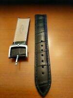 Genuine Rotary | Mens crocodile leather strap 22 mil