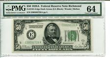FR 2101-E  1928A $50 FEDERAL RESERVE NOTE PMG 64 CHOICE UNCIRCULATED