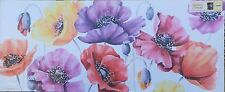"""Poppies Multicoloured canvas  48"""" x 20"""" mounted on a wooden stretcher(N)"""