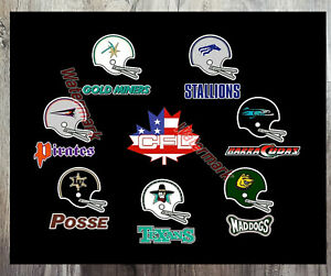CFL 1993 USA Based Teams Logo US Expansion Color 8 X 10 Photo Picture