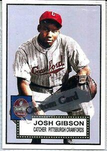 JOSH GIBSON PITTSBURGH CRAWFORDS NEGRO LEAGUES 1952 STYLE CUSTOM BASEBALL CARD