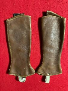 Leather Snake  Gaiters for Leg Protection Hunting Camping