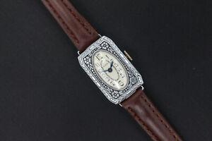 1932 Elgin Floral Heavily Engraved Women's Art Deco Vintage Watch
