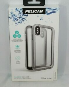 NEW Authentic Pelican Marine Waterproof Case for iPhone Xs Max Clear