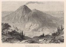 1884 Napoli Vesuvio funivia xilografia