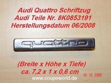 Audi Quattro Emblem, Schriftzug Neu
