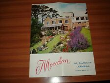 VINTAGE BOOKLET FOR MEUDON HOTEL BREAM COVE MAWNAN SMITH FALMOUTH CORNWALL