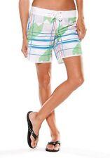 Women's Oakley Dazed Board Shorts Boardshorts Swim White Print Size 3/4