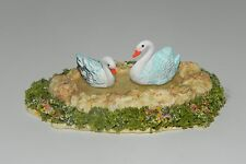 Pond with Swans Miniature Landscape Diorama 1:12 Scale Nativity Village