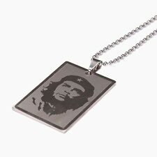 Unisex Classic Che Guevara Stainless Steel Pendant Silver Men Charm Necklace