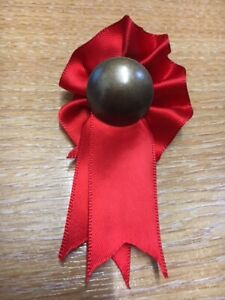 RED ROCKING HORSE ROSETTE FOR NEW HORSE / ANTIQUE TOY RESTORATION