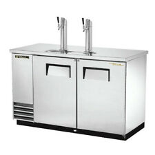 "True Tdd-2-S-Hc 59"" Two Keg Stainless Steel Direct Draw Beer Dispenser"