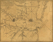 Plan of the entrance of Chesapeake Bay Virginia c1781 map 22x18