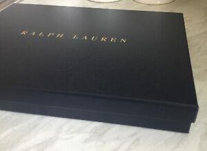Ralph Lauren Navy Empty Gift Box With Tissue 32.x 23 x 4 cm