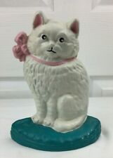 Antique Cast Iron Cat Door Stop Hand Painted