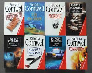 Patricia Cornwell - Lot de 8 Romans - Ed. Cayman-Levy - Crime