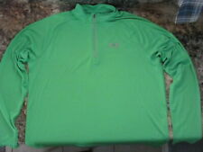 Men's Xl Under Armour Fitted 1/4 Zip Running Athletic Long Sleeve Shirt Green