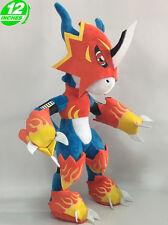 HIGH 30CM Flamedramon フレイド Plush Digimon Adventure Stuffed Animal Doll DAPL9024