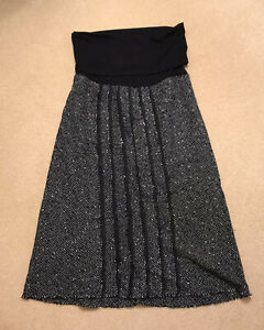 Blooming of Dublin Black maternity sparkly soft Skirt Size 12 Smart Casual
