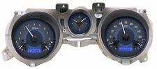 1971-73 Mustang Dakota Digital Carbon Fiber & Blue VHX Metric Analog Gauge Kit