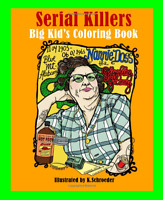 Serial Killers Coloring Book Brain Training Anti Stress Meditation Relax Gift