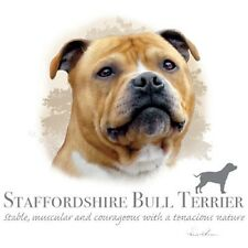 """Staffordshire Bull Terrier Dog with Phrase -One 18""""X 22"""" Fabric Panel to Sew"""