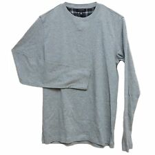 Club Room Men's 100% Cotton Crew Neck Long Sleeve Night Shirt Gray Size S