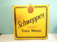 GREAT  VINTAGE  BIG  SCHWEPPES  METAL  SIGN  EXTREMELY  RARE