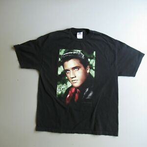 VTG Y2K Young Elvis Presley Big Face Head Graphic Print T Shirt XL USA