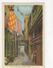 Sous Le Cap Street Quebec Vintage Postcard Canada 516a