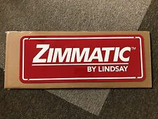 Zimmatic Sign, Lindsay, Pivot, collector, Agriculture,