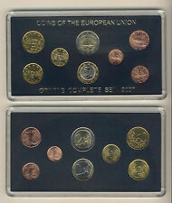 Greece. Greek Euro Coins Year 2007 UNC, Compl. set of 8 values (1 c. to 2 euros)