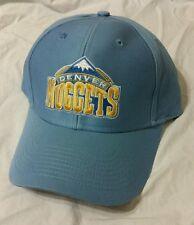 New Authentic Adidas Script Denver Nuggets NBA Team  Hat Cap Adjustable blue