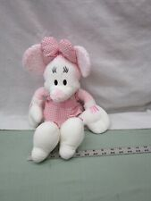 Fisher-Price Disney Minnie Mouse Plush Stuffed Pink White Plaid Soft Doll Toy
