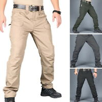 Mens Waterproof Tactical Pants Outdoor Camping Hiking Cargo Lightweight Trousers