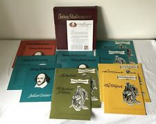 "Vintage Boxed Set 6x LIVING SHAKESPEARE 1964 12"" 33 1/3 RPM LP + Books + Box"