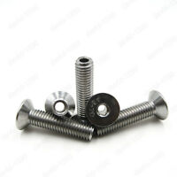 M4 M5 M6 M8 M10 Stainless Steel Hex Socket Countersunk Head Hollow Screws Bolts