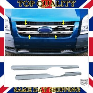 Chrome Front Grill 2 pcs STAINLESS STEEL For Ford Transit MK7 from 2006 to 2014